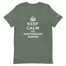 Load image into Gallery viewer, Keep Calm and Photograph Puppies T-Shirt