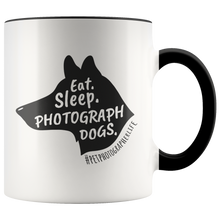 Load image into Gallery viewer, Eat. Sleep. Photograph Dogs. Accent Color Mug