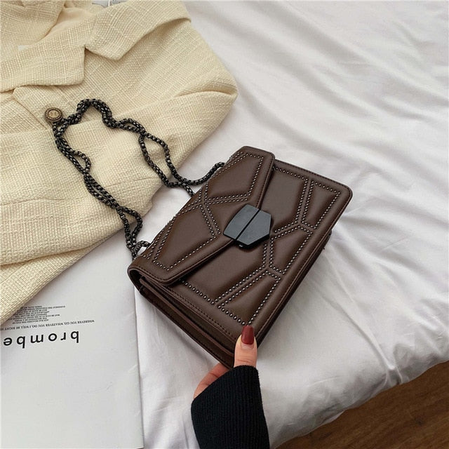 Rivet Chain Small Crossbody Bags For Women 2020 Shoulder Messenger Bag Lady Luxury Handbags