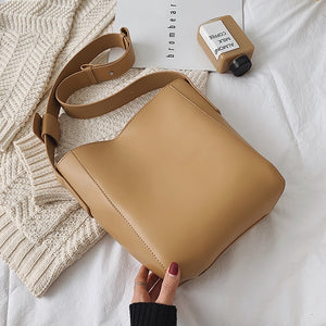 Pu Leather Shoulder Bag Fashion Women's Lovely Luxury Handbags Purses Solid Color Wallet Bag