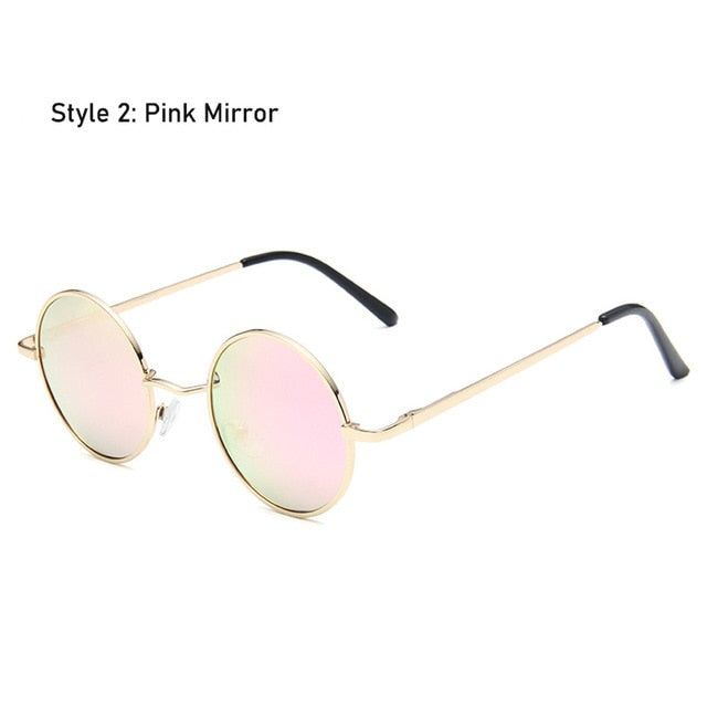 Retro Classic Vintage Round Polarized Sunglasses Men Brand Designer Sun Glasses Women Metal Frame Black lens Eyewear Driving