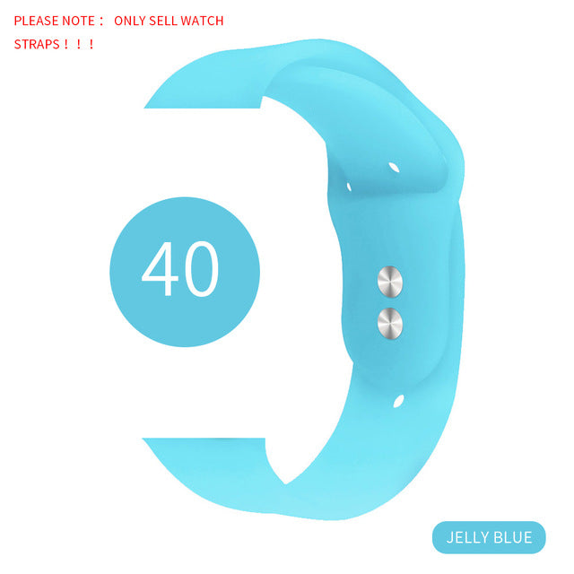 Soft Silicone Sport Band For 38mm Apple Watch Series1 2 3 4 5 42mm Wrist Bracelet Strap For iWatch band 40mm 44mm Sports Edition