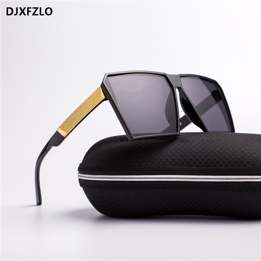 Square Oversized Sunglasses New Reflective Statement Sunglasses Men Women Designer Luxury Fashion Lady Gafas Sun Glasses Oculos de sol
