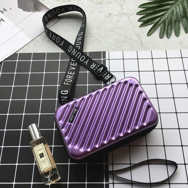 Luxury Hand Bags for Women Inspired New Suitcase Shape Totes Fashion Mini Luggage Bag Women Famous Brand Clutch Bag Mini Box Bag