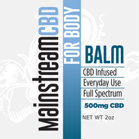 Mainstream CBD's 500mg Pain Balm will give you relief where you need it. Apply to aches and pains for relief. All natural ingredients including beeswax, coconut oil, camphor and lavender oils with a hefty amount of beneficial CBD.