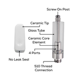 Ceramic Cell Cartridge 1ml - White Ceramic Tip