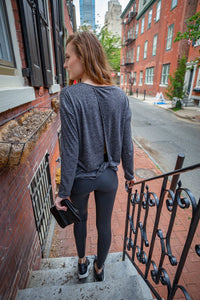 The coziest long sleeve twist back top