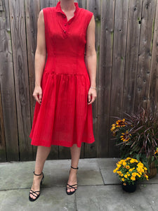 Vintage Silk Red Dress