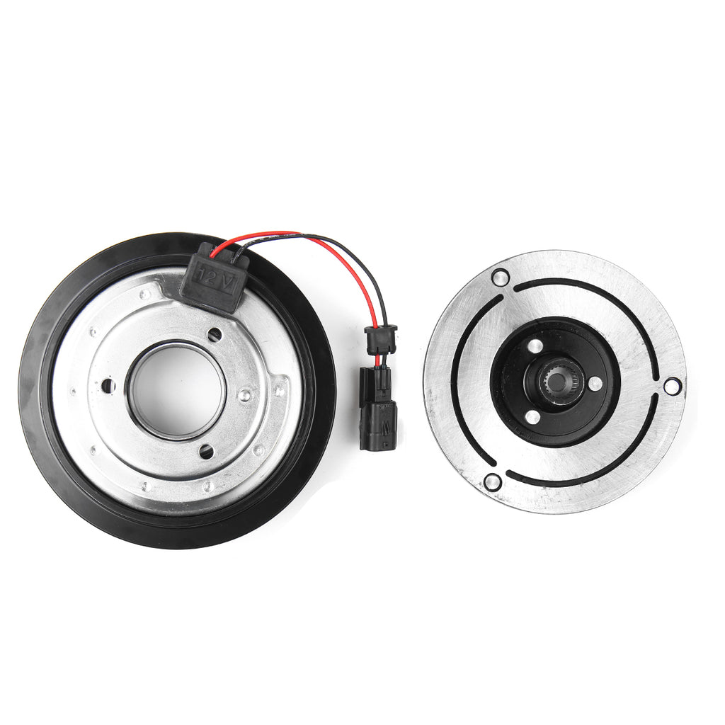 AC Compressor Clutch Kit Pulley Bearing Coil Plate For Nissan 2008 - 2013