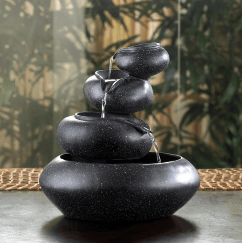 Desktop Water Fountain, a gorgeous Feng Shui Indoor Water Feature with submersible Water Pump included