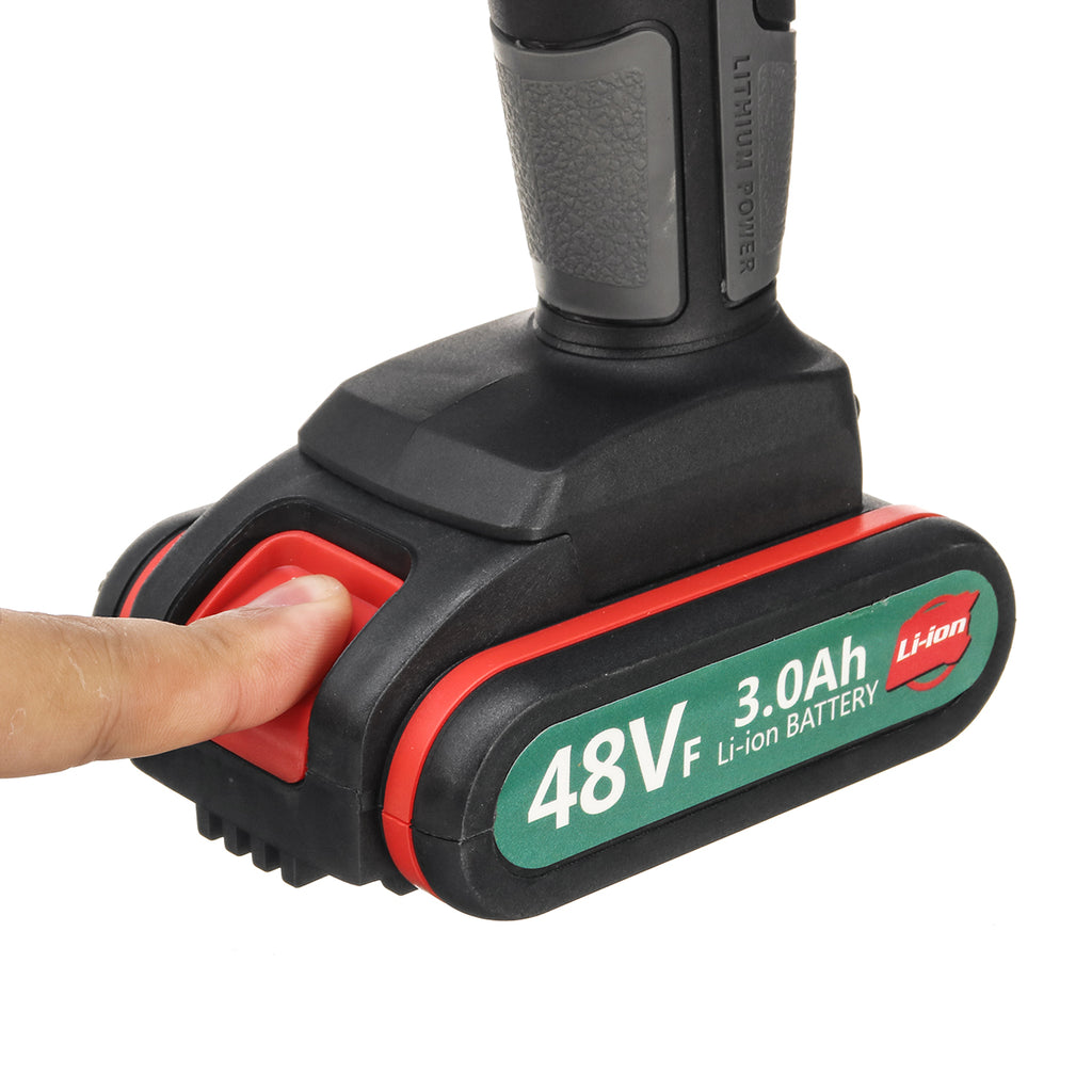 48VF 3.0Ah Cordless Power Drill Rechargeable Electric Drill 25+1 Torque Drilling Power Tool - One Battery