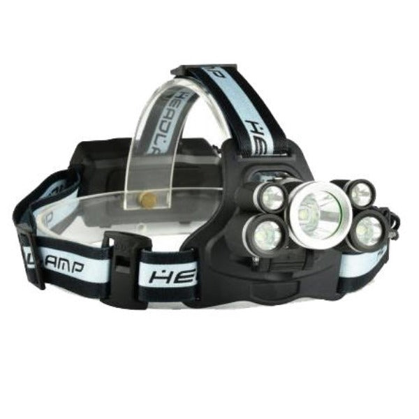 LED Headlamp - Rechargeable XANES® 2409-B 1700LM Telescopic Zoom Headlamp 18650 USB Rechargeable 5 Modes Headlamp with SOS Help Whistle - Black
