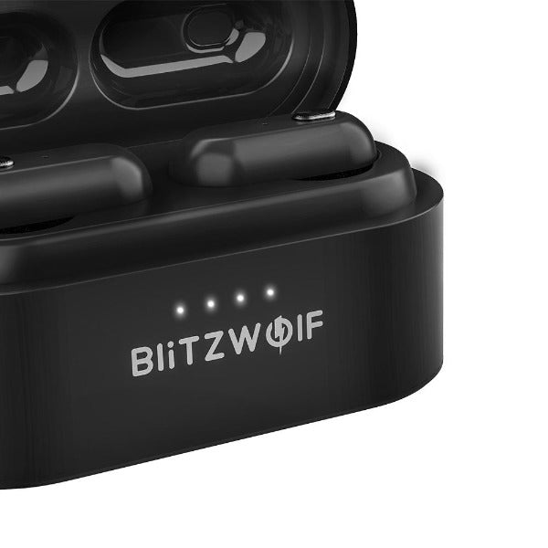 [Dual Dynamic Drivers] Blitzwolf® TWS Wireless Earbuds with Extra Bass, True Wireless Stereo & Bilateral Calls: The Blitzwolf® BW-FYE7 TWS Bluetooth 5.0 with Charging Box - Black
