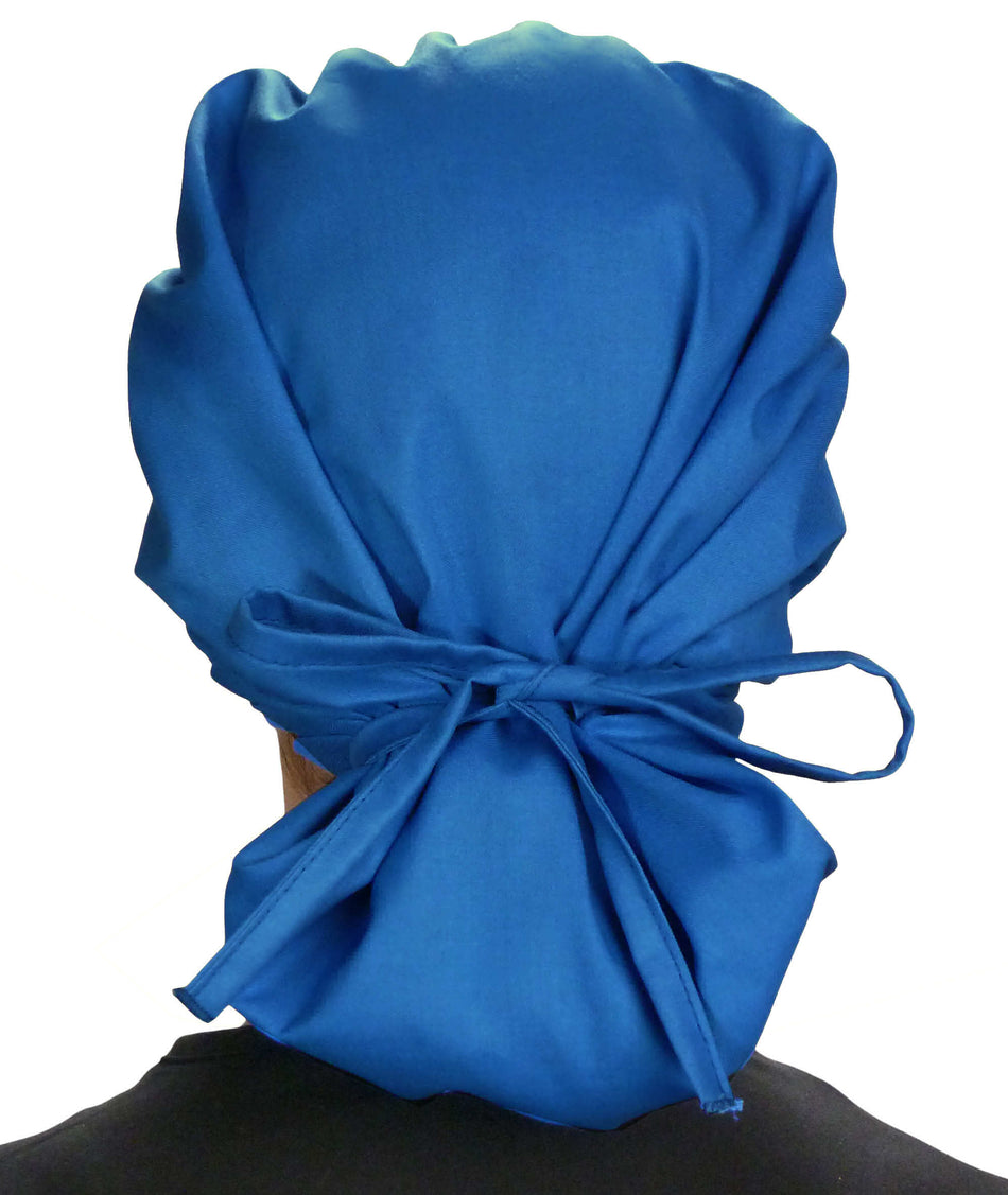 Banded Bouffant Surgical Scrub Cap - Solid Royal Blue