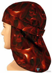 No Tie Desert Skull Cap-Ghost Skulls Red Skull Caps Headwear & More