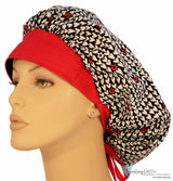 Designer Banded Bouffant-Hearts Of Love With Red Band New Arrivals