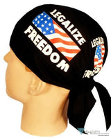 Skull Cap-Legalize Freedom On Black Skull Caps Headwear & More