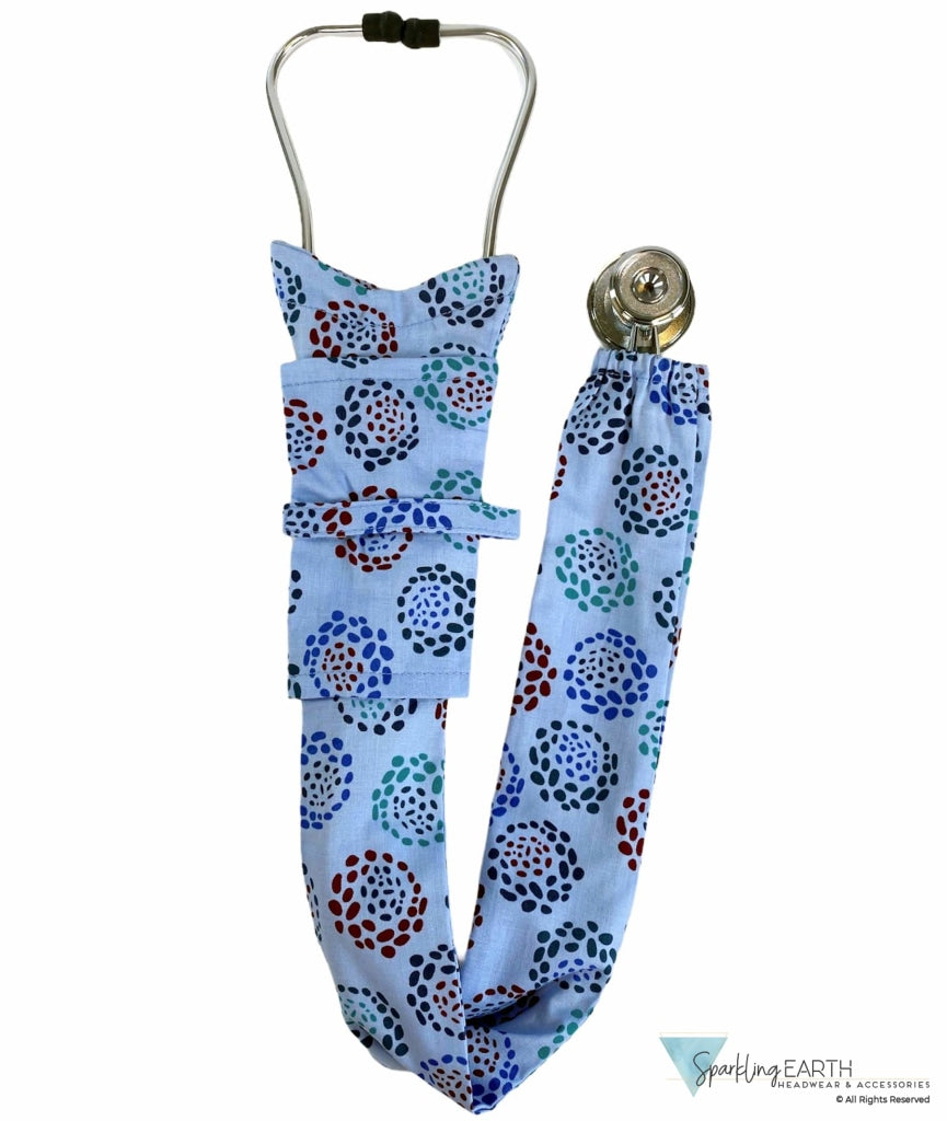 Stethoscope Cover - Abstract Mums On Blue Covers