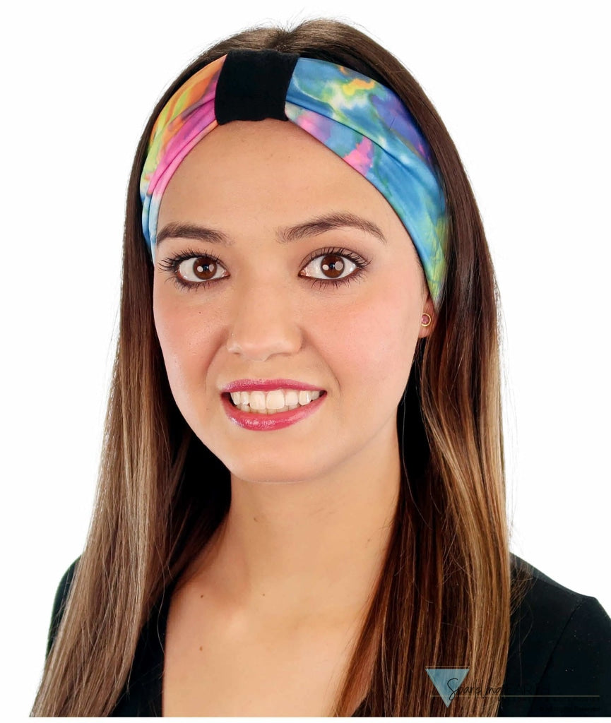 Stretch Headband - Multi Color Tie Dye (Pastel) Headbands