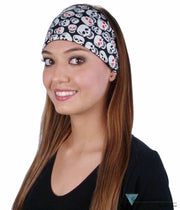 Stretch Headband - Red Eye Skulls On Black Headbands