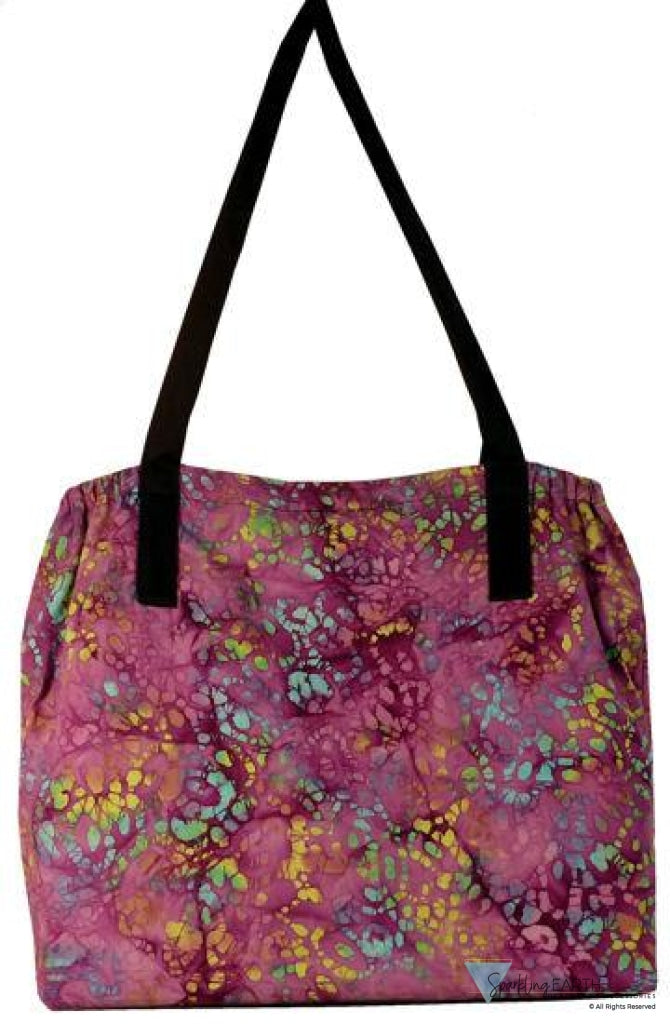 Tote Bag-Purple Batik Clearance