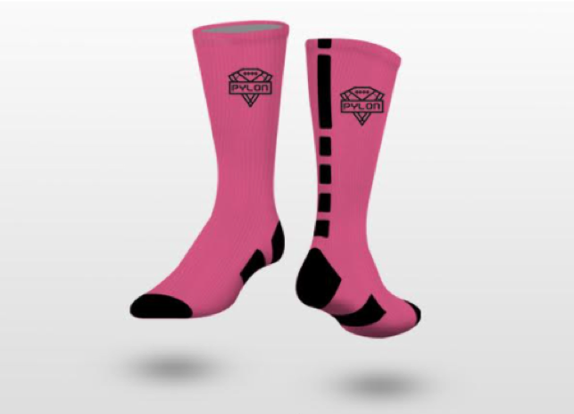 Pylon Breast Cancer Awareness Socks