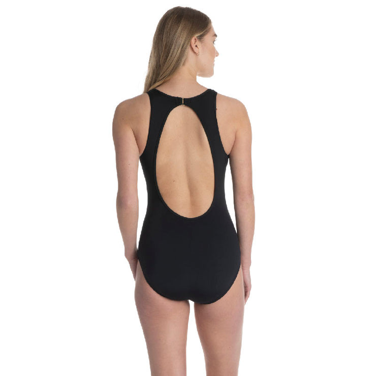SHADOW LEAF HIGH NECK ONE PIECE