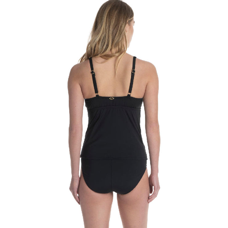 V-NECK UNDERWIRE OVER THE SHOULDER TANKINI TOP