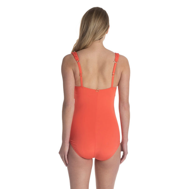 Pintuck Draped Surplice One Piece