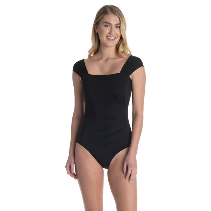 Glamour Square Neck One Piece