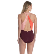 Colorblock Wrap One Piece