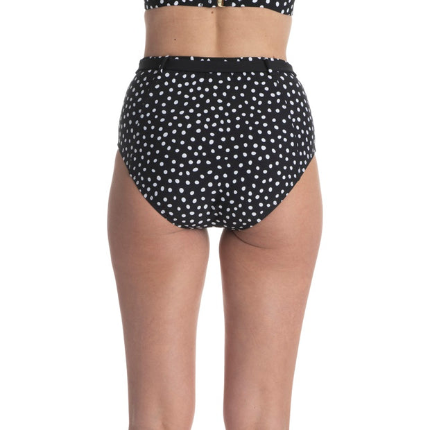 Pebble Dot Belted High Waist Bottom