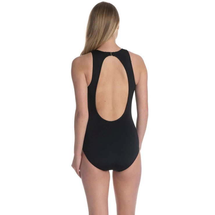 Hibiscus Haze High Neck One Piece