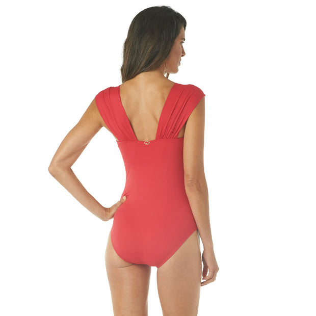 GLAMOUR CAP SLEEVE ONE PIECE