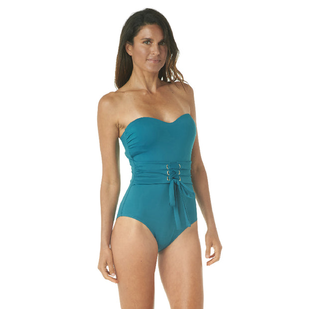 BELTED BANDEAU ONE PIECE