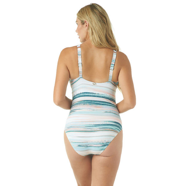 MELTED STRIPE UNDERWIRE ONE PIECE