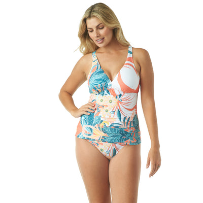 RAINFOREST V-NECK TANKINI TOP