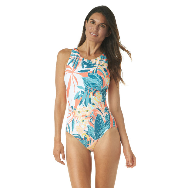 RAINFOREST HIGH NECK ONE PIECE