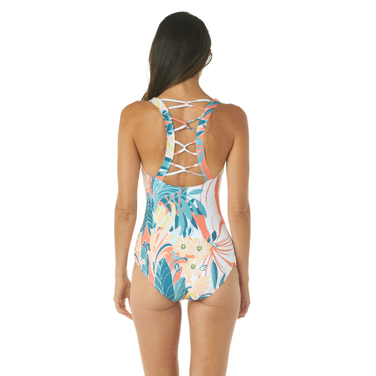 RAINFOREST V-NECK ONE PIECE