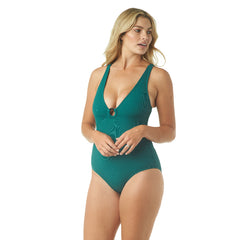 SAUCY RIB V-NECK ONE PIECE