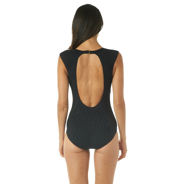 SAUCY RIB PORTRAIT BACK ONE PIECE