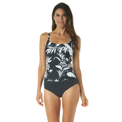 TROPICAL SILHOUETTE CAMIKINI TOP