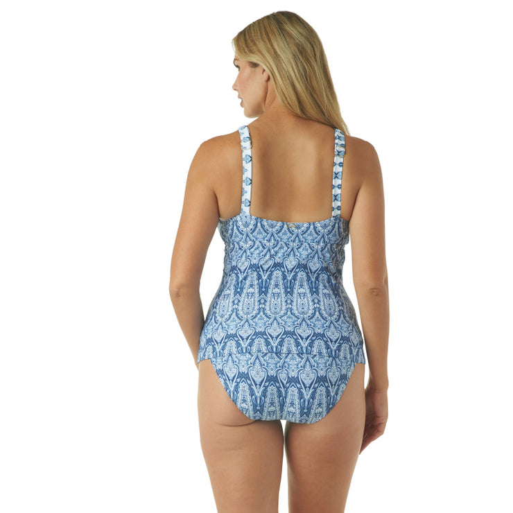 GOING GREEK OVER THE SHOULDER TANKINI TOP