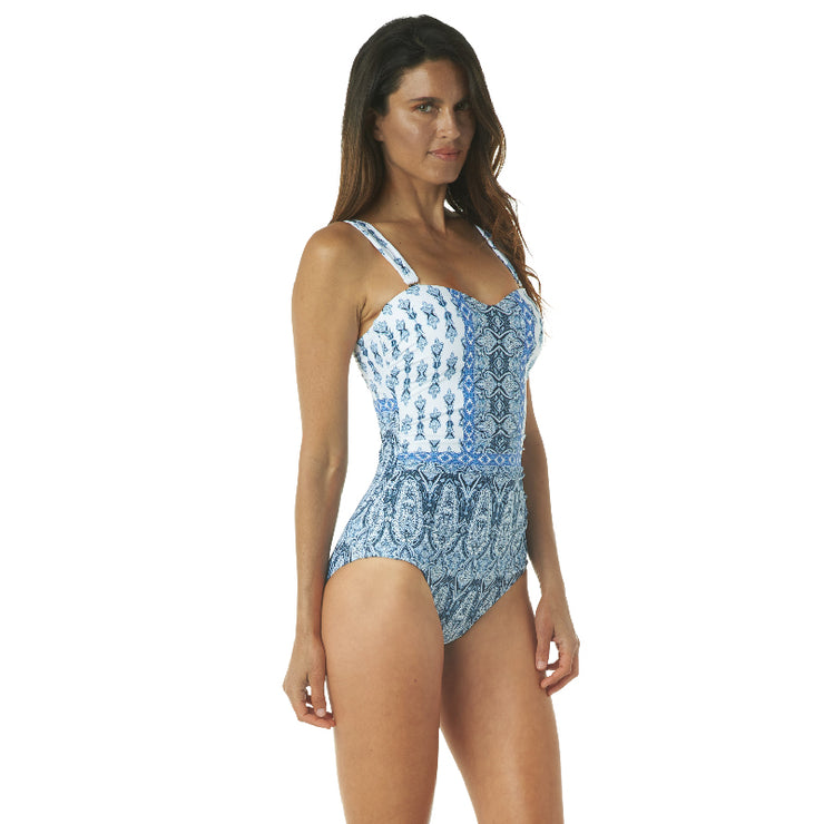 GOING GREEK BANDEAU ONE PIECE
