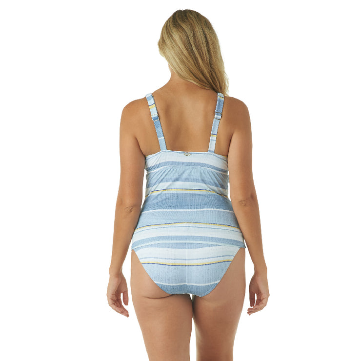 SAIL AWAY STRIPE V-NECK TANKINI