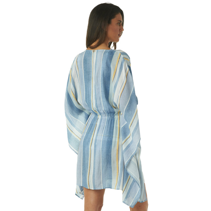 SAIL AWAY STRIPE KAFTAN COVERUP