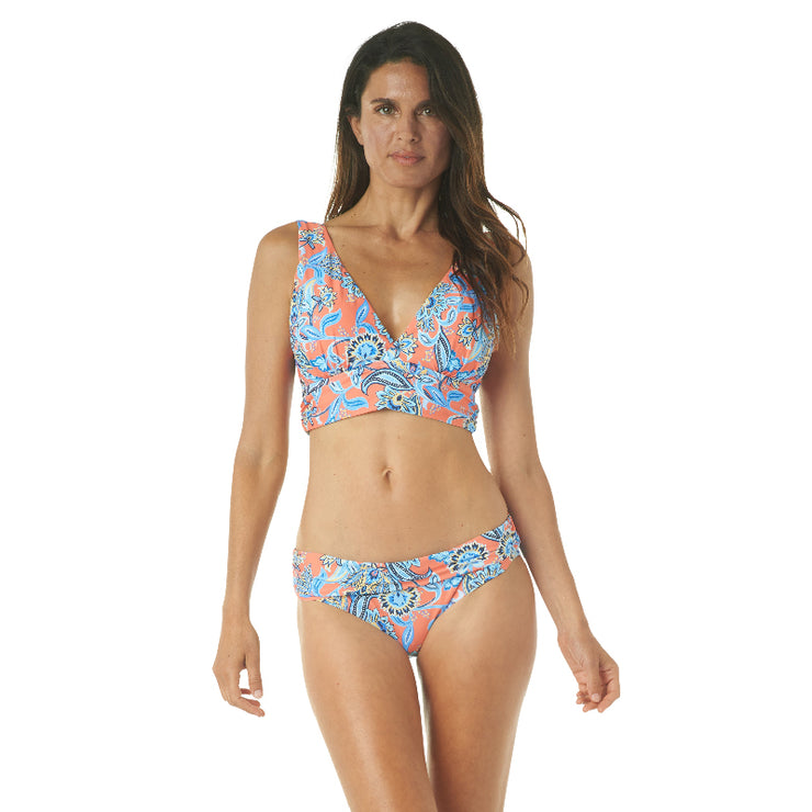 PERSEPHONE FLORAL MIDKINI TOP