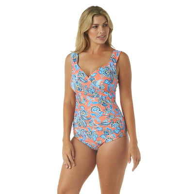 PERSEPHONE FLORAL SURPLICE ONE PIECE