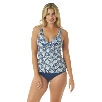 MIXED DRINK OVER THE SHOULDER TANKINI TOP