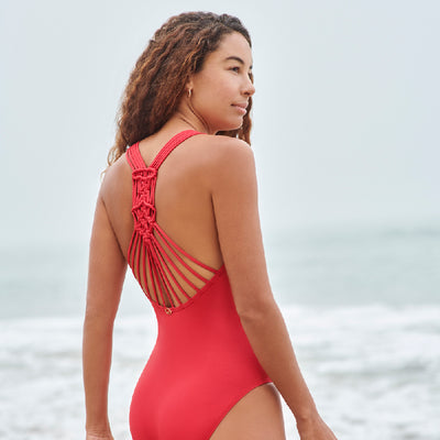 MACRAME BACK ONE PIECE